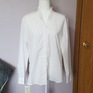 Foxcroft White Wrinkle Free Shaped Fit Shirt